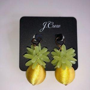 J. Crew Pineapple Thread and Beads Drop Earrings🍍